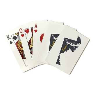 Maryland - Home State - Gray on White - LP Artwork (Poker Playing Cards Deck)