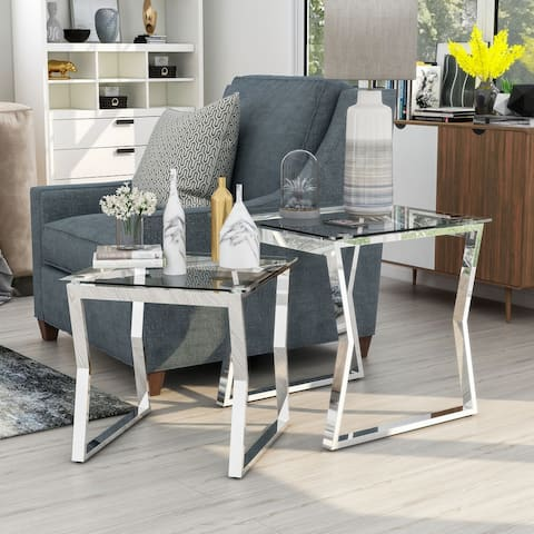 Furniture of America Morfell Contemporary Nesting Tables