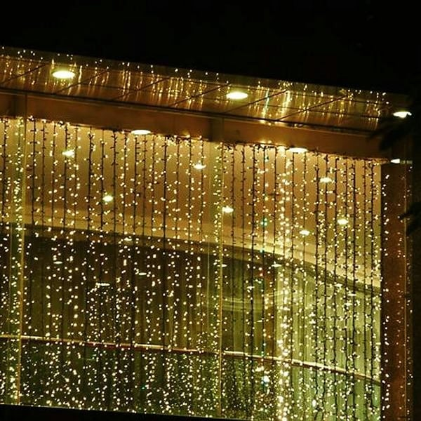 Agptek 300 Led Outdoor Fairy Curtains String Light For Christmas Wedding Party S Overstock 18357549