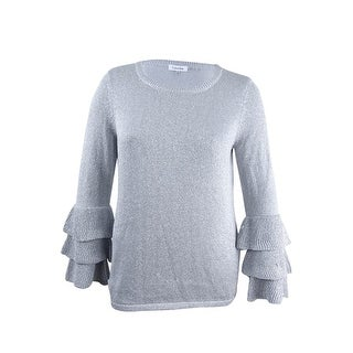 Calvin Klein Women's Tiered Ruffle-Cuff Sweater