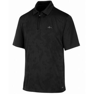 Greg Norman Black Mens Size Medium M Polo Short-Sleeve Shirt