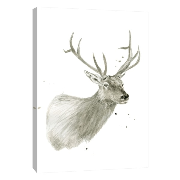 """PTM Images 9-105448 PTM Canvas Collection 10"""" x 8"""" - """"Buck Bust"""" Giclee Deer Art Print on Canvas"""
