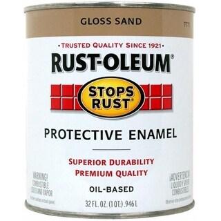 Rustoleum 1 Quart Sand Gloss Stops Rust Protective Enamel 7771-502