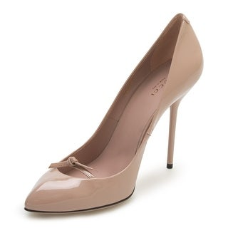 Gucci Women's Leather Closed Toe High Heel Pink