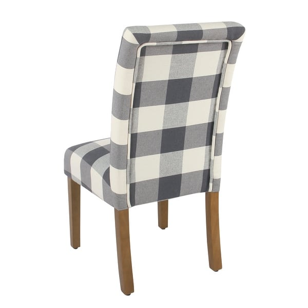 Homepop Parsons Dining Chair Blue Plaid Set Of 2 On Sale Overstock 18097043