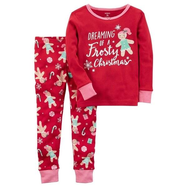 72c366e6e60f Shop Carter s Baby Girls  2-Piece Frosty Christmas Snug Fit Cotton ...