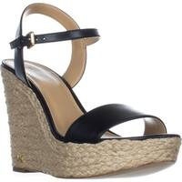 MICHAEL Michael Kors Jill Wedge Espadrille Sandals, Black