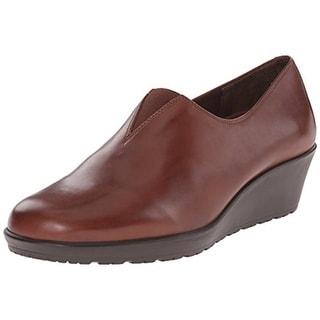 Walking Cradles Womens Kola Leather Slip On Wedges