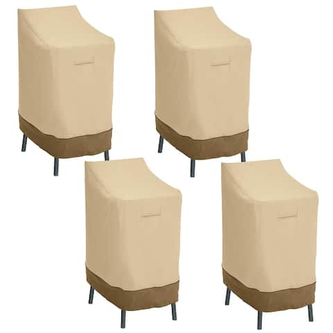 Classic Accessories Veranda Patio Bar Chair/Stool Cover - 4-Pack