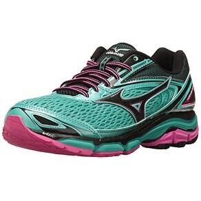 Mizuno Women's Wave Inspire 13 Running Shoe, Blarney/Electric, 10 B US