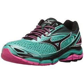 Mizuno Women's Wave Inspire 13 Running Shoe, Blarney/Electric, 7 B US