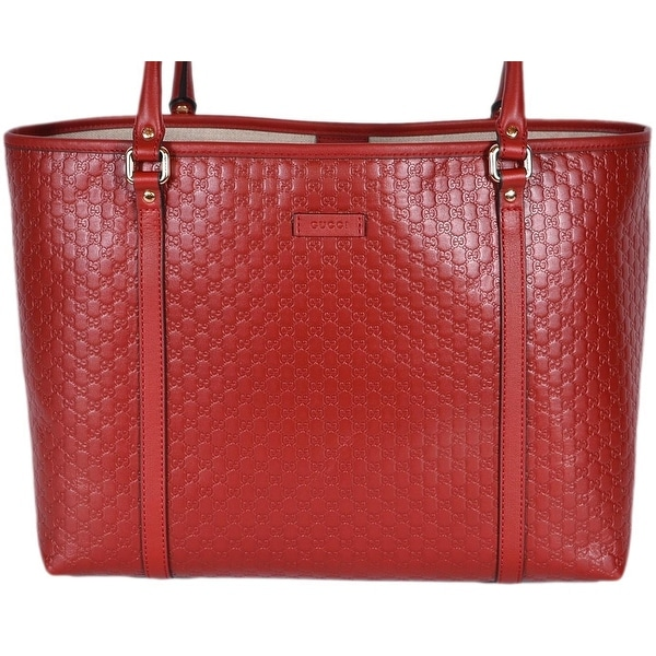 04f7cc7b326 Gucci 449647 Red Leather Micro GG Guccissima Joy Purse Handbag Tote - 16