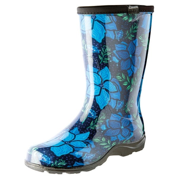 Women's Sloggers Rubber Boots - Garden Spring Surprise Print