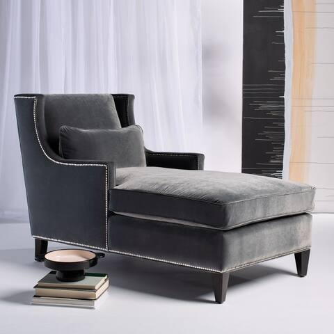 "Safavieh Couture Vitali Studded Chaise - 33"" W x 61"" L x 38"" H"