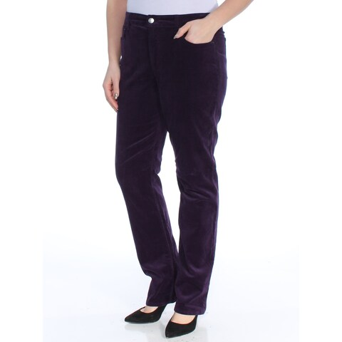 RALPH LAUREN Womens Purple Pants Size: 12