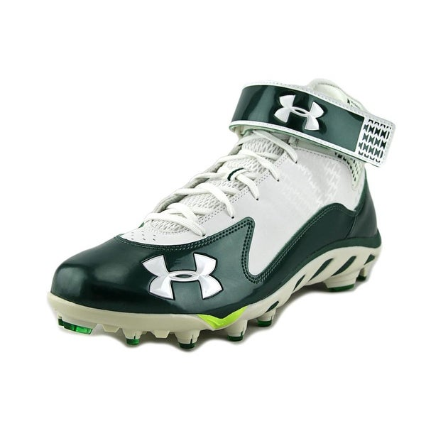 Under Armour Spine Fierce Mid MC Men Round Toe Synthetic Green Cleats