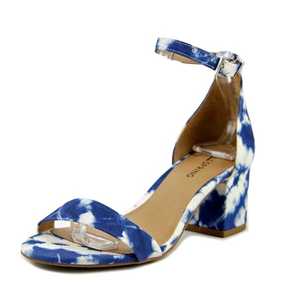 Call It Spring Stangarone Women White/Navy Sandals