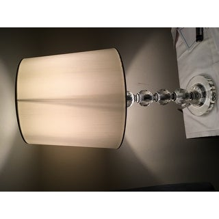 Safavieh Lighting 16-inch Nola White Shade Stacked Crystal Ball Table Lamp (Set of 2)