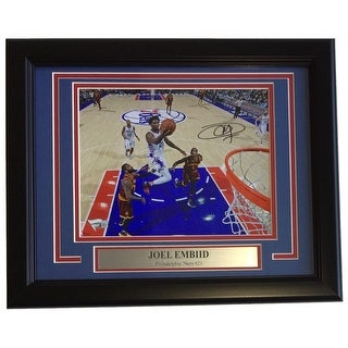 Joel Embiid Signed Framed 8x10 Philadelphia 76ers vs Cavaliers Photo Fanatics