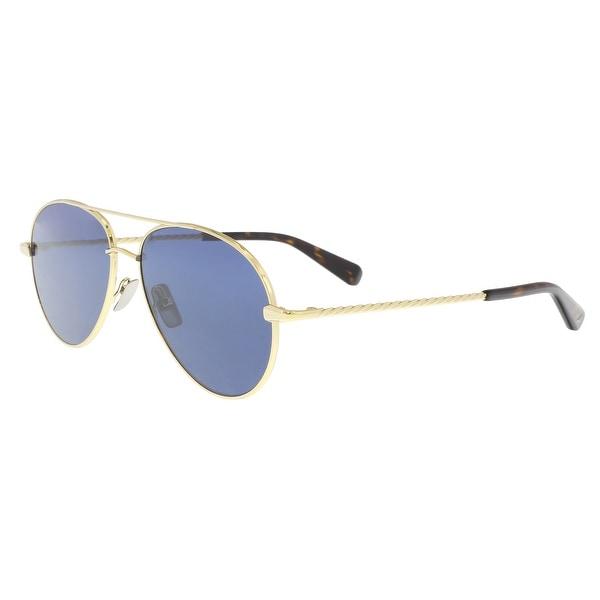 e09579259e Shop Brioni BR0034S-003 Gold Aviator Sunglasses - 67-15-145 - Free ...