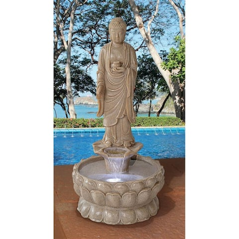 Design Toscano Earth Witness Buddha Illuminated Garden Fountain: Large