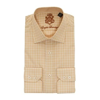 English Laundry Tan Checkered Long Sleeve Button Down Dress Shirt|https://ak1.ostkcdn.com/images/products/is/images/direct/3f8012105d450725d24b8d9922c35e7b9a3bb06d/English-Laundry-Tan-Checkered-Long-Sleeve-Button-Down-Dress-Shirt.jpg?impolicy=medium