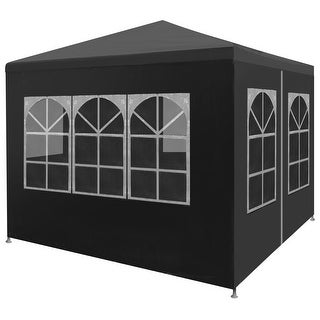 """vidaXL Party Tent 9'10""""x9'10"""" Anthracite Outdoor Canopies Pavilion Gazebo"""