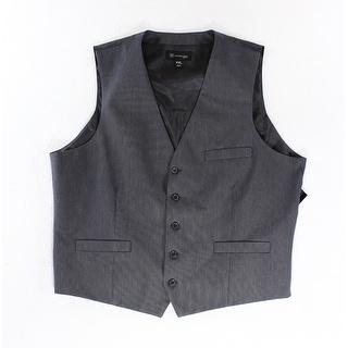INC NEW Solid Blue Mens Size XL Three-Pocket Seamed Slim Fit Vest