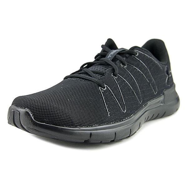 Under Armour Thrill 3 Men Round Toe Canvas Black Running Shoe