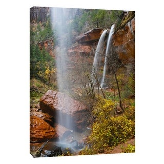 "PTM Images 9-105365  PTM Canvas Collection 10"" x 8"" - ""Zion Falls 2"" Giclee Canyons Art Print on Canvas"