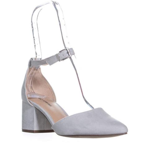 Call It Spring Womens Aiven Leather Pointed Toe Ankle Strap Classic Pumps