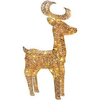 Led Light Up Reindeer-Gold