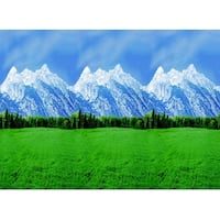 Fadeless Designs Paper Roll, Mountains, 48 Inches x 50 Feet