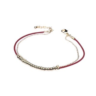 Red and Gold Double String-A-Thing Bracelet