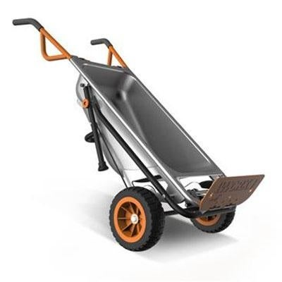 Positec Wg050 Worx Aerocart 8-In-1 Multi-Function Wheelbarrow / Yard Cart / Dolly
