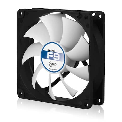 Arctic Cooling Black / White 92mm Cooling Fan (F9) (AFACO-09000-GBA01) - NEW