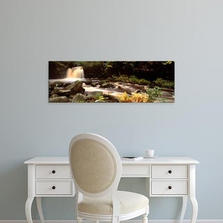 Easy Art Prints Panoramic Image 'Stream, Thomason Foss, Goathland, North Yorkshire, England, United Kingdom' Canvas Art