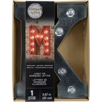"""Silver Metal Marquee Letter 9.875""""-K"""