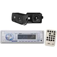"Pyle In-Dash Marine AM/FM USB/SD Stereo Player Receiver Aux-In for iPod/MP3 + 2 x 3.5"" 200W Speakers & Wireless Remote Control"