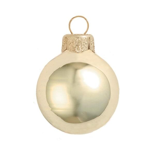 "28ct Shiny Champange Gold Glass Ball Christmas Ornaments 2"" (50mm)"