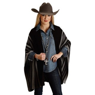 Stetson Western Sweater Womens Stripe OS Black 11-027-0539-0648 BL - One size