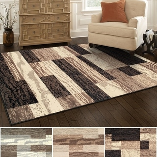 Link to Superior Rockwood Distressed Patchwork Modern Area Rug Collection Similar Items in Rugs