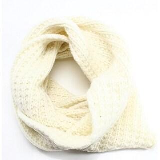 FRYE NEW White Ivory Crochete Woven Knit Women's Infiniti Cowl Scarf