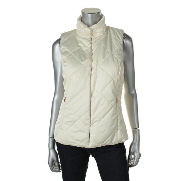Lauren Ralph Lauren Womens Faux Fur Reversible Outerwear Vest - M