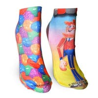 """Candy Crush """"Candy Toffee"""" Ladies Socks 2-Pack - Multi-Colored"""