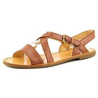 Cole Haan Deandra Flat.San.II Women Open-Toe Leather Slingback Sandal