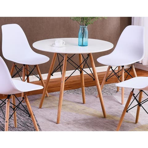 Carson Carrington Kungsangen White and Beech Wood Dining Table