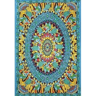 Handmade 100% Cotton Grateful Dead Terrapin Dance Psychedelic Tapestry Dorm