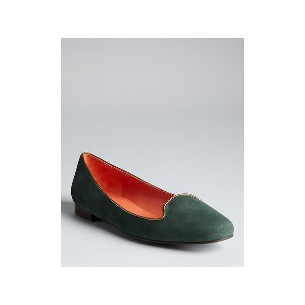Via Spiga Womens Edina Suede Almond Toe Loafers