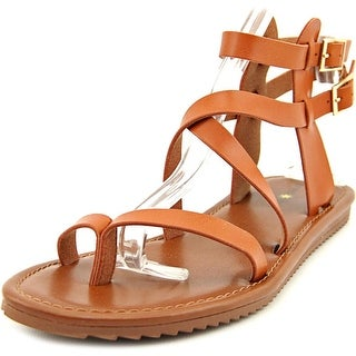 Seven Dials Sync Women Open Toe Synthetic Brown Gladiator Sandal